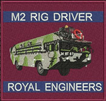 M2 RIG DRIVER Badge